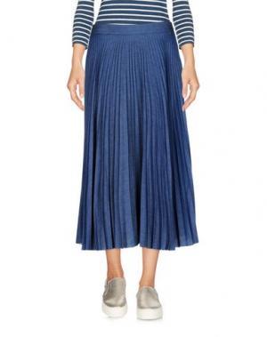 Джинсовая юбка OTTOD'AME. Цвет: синий