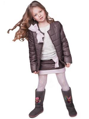 Куртка и юбка babyAngel. Цвет: коричневый