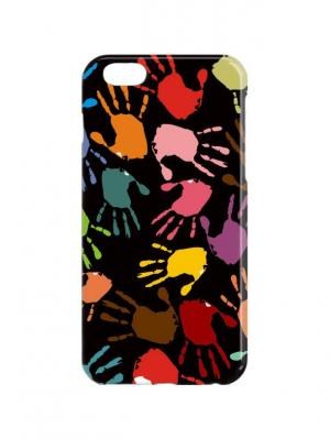 Чехол для iPhone 6Plus Ладошки Арт. 6Plus-289 Chocopony. Цвет: черный, желтый