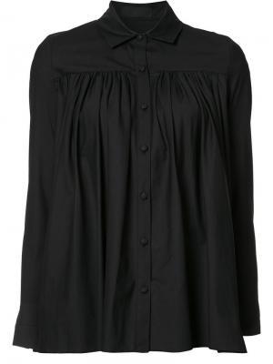 Рубашка с плиссировкой Co. Цвет: чёрный