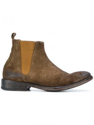 Ботинки по щиколотку Sartori Gold. Цвет: коричневый