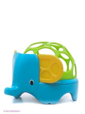 Погремушка Зоопарк Oball. Цвет: голубой