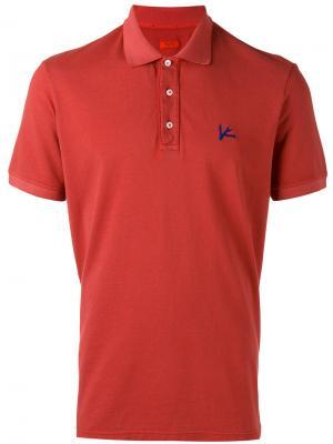 Классическая футболка-поло Isaia. Цвет: красный