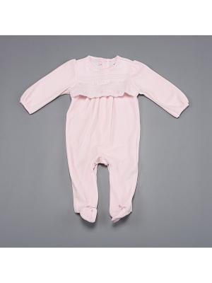 Комбинезон нательный для малыша BABALUNO. Цвет: розовый