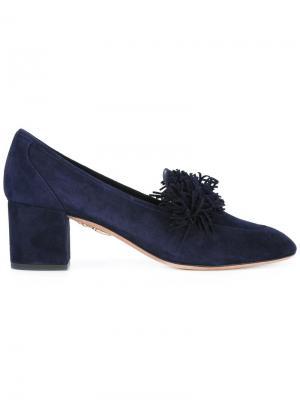 Туфли с бахромой Aquazzura. Цвет: синий