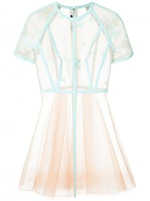 Платье Arely Alex Perry. Цвет: телесный