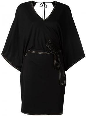 Платье с V-образным вырезом на спине Toteme. Цвет: чёрный