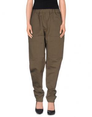 Повседневные брюки SO BE IT. Цвет: зеленый-милитари