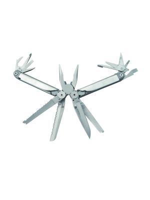Мультитул  11 инструментов, нейлоновый чехол Stinger. Цвет: серебристый