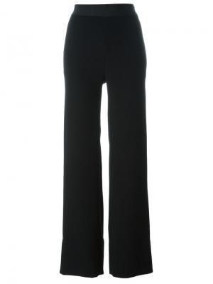 Широкие брюки Veronique Leroy. Цвет: чёрный