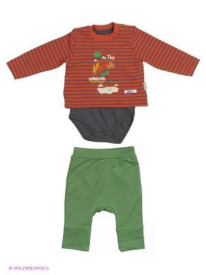 Костюм для малышей WO&GO. Цвет: коричневый, антрацитовый, оливковый