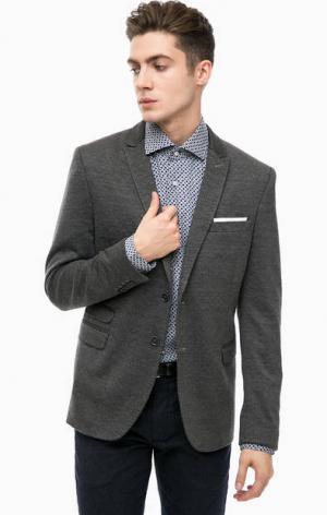 Трикотажный пиджак серого цвета Cinque. Цвет: серый