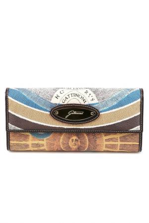 Клатч Gattinoni. Цвет: brown, beige, blue