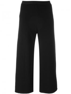 Укороченные брюки Stefano Mortari. Цвет: чёрный