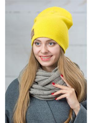 Шапка FOMAS. Цвет: желтый