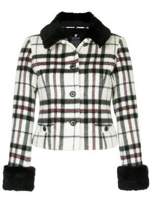 Куртка в клетку Loveless. Цвет: белый