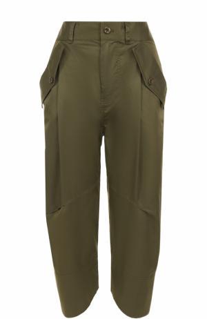 Укороченные брюки-бананы с карманами Polo Ralph Lauren. Цвет: оливковый
