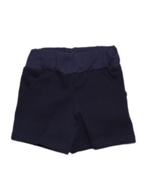 Шорты с карманами интерлок КиСса. Цвет: темно-синий