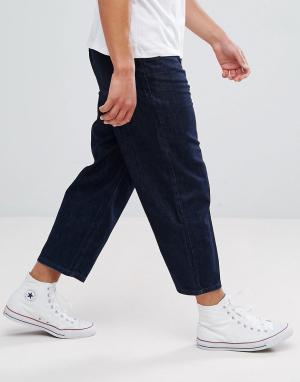 Kiomi Темные широкие джинсы. Цвет: темно-синий