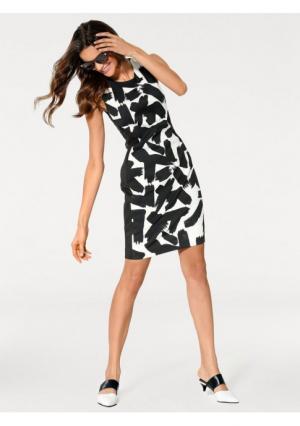 Моделирующее платье-футляр Ashley Brooke. Цвет: черный/белый
