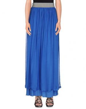 Длинная юбка M!A F. Цвет: ярко-синий