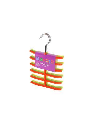Набор вешалок из 3 штук EL CASA. Цвет: желтый, зеленый, оранжевый