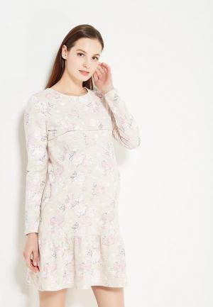 Платье Hunny mammy. Цвет: бежевый