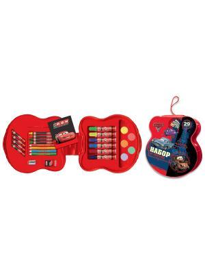 Подарочный набор для творчества 29 предметов Disney Тачки 2. Цвет: красный
