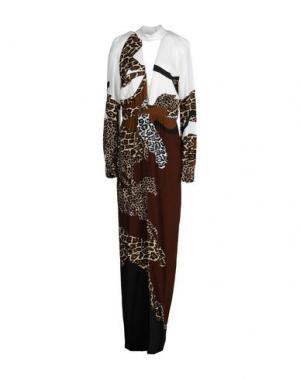 Длинное платье ALEXANDER TEREKHOV. Цвет: хаки