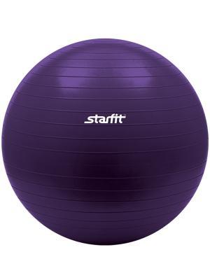 Мяч гимнастический STARFIT GB-101 75 см, фиолетовый (антивзрыв) 1/10. Цвет: фиолетовый