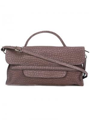 Классическая сумка на плечо Zanellato. Цвет: коричневый