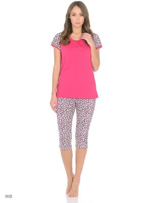 Пижама Magwear. Цвет: малиновый