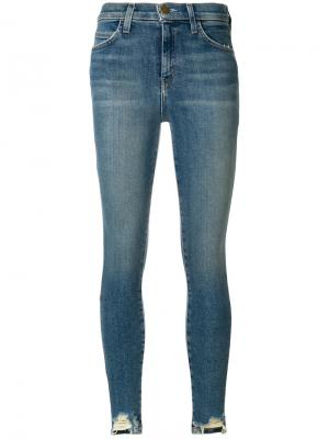 Состаренные джинсы Harvey Current/Elliott. Цвет: синий