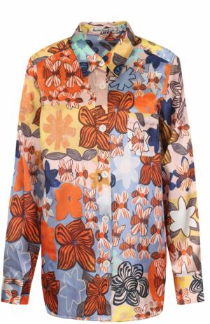 Блуза прямого кроя с принтом Acne Studios. Цвет: разноцветный