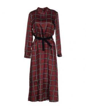 Платье длиной 3/4 VICOLO. Цвет: какао
