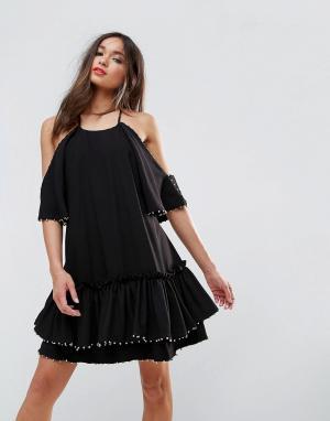 Talulah Платье мини Edwardian. Цвет: черный
