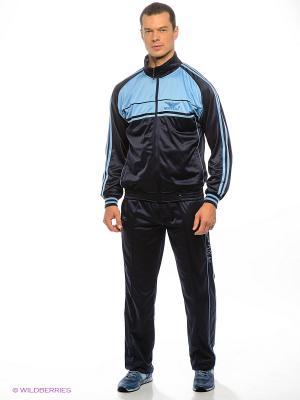 Спортивный костюм Montana. Цвет: синий, голубой