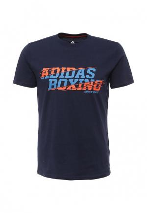 Футболка спортивная adidas Combat. Цвет: синий