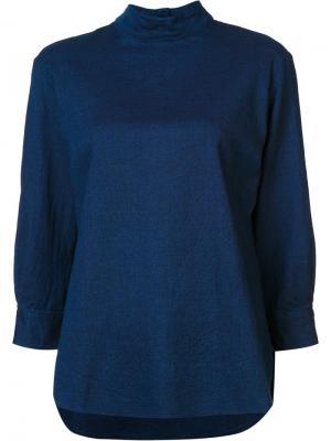 Кофта с воротником-воронкой Blue Japan. Цвет: синий