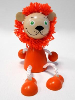 Игрушка подвеска на пружине - Лев Taowa. Цвет: оранжевый