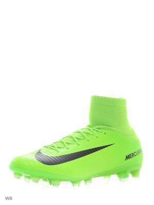Бутсы MERCURIAL VELOCE III DF AG-PRO Nike. Цвет: зеленый