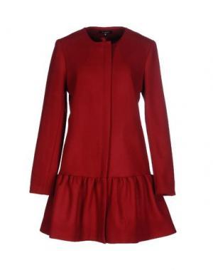 Пальто AXARA PARIS. Цвет: кирпично-красный