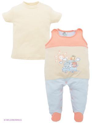 Комплект FS Confeccoes. Цвет: светло-оранжевый, кремовый