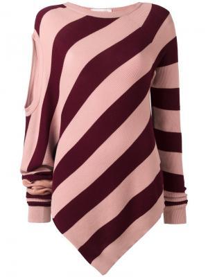 Джемпер Twist A.F.Vandevorst. Цвет: розовый и фиолетовый