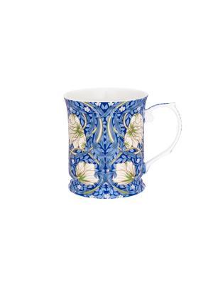 Кружка Цветы на синем Elan Gallery. Цвет: синий,белый