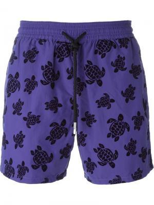 Плавательные шорты с принтом черепах Vilebrequin. Цвет: чёрный