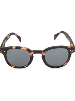 Солнцезащитные очки в круглой оправе See Concept. Цвет: коричневый