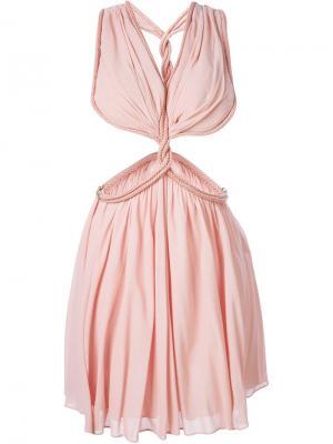 Платье с веревочной отделкой Jay Ahr. Цвет: розовый и фиолетовый