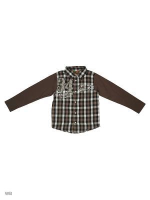 Сорочка для мальчика Knot so bad. Цвет: коричневый