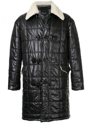 Стеганое пальто с отделкой из овчины 3.1 Phillip Lim. Цвет: чёрный